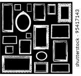 vintage wooden frames wall...   Shutterstock .eps vector #95417143