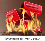 3d abstract background | Shutterstock .eps vector #95421460