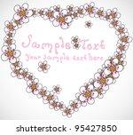 heart made of blooms | Shutterstock .eps vector #95427850