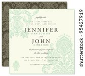 vector front and back damask... | Shutterstock .eps vector #95427919