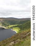 Loch Tay or Guinness Lake, Wicklow Mountains, Ireland - stock photo