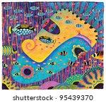 my wife 1  2010  acrylic  oil... | Shutterstock . vector #95439370
