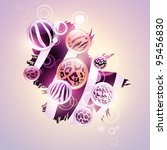 abstract wild background with...   Shutterstock .eps vector #95456830