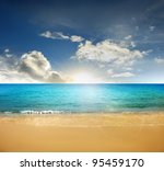 beach   tropical sea | Shutterstock . vector #95459170
