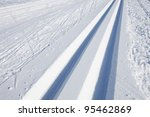 cross country skiing tracks in... | Shutterstock . vector #95462869