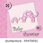 baby shower   girl | Shutterstock .eps vector #95470051