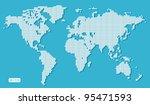 blue world map dotted | Shutterstock .eps vector #95471593