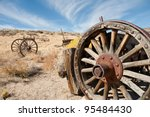 Old Wagon Wheel In The...