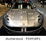 TORONTO-FEBRUARY 16: Fisker Karma at the 2012 Canadian International Auto Show on February 16, 2012 in Toronto - stock photo