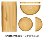 wood texture and elements... | Shutterstock .eps vector #95496310