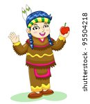 indian girl   Shutterstock .eps vector #95504218