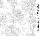 hand drawn floral wallpaper... | Shutterstock .eps vector #95506024