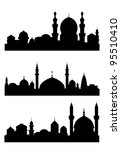 islamic city silhouettes for... | Shutterstock .eps vector #95510410