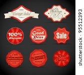 vector vintage discount... | Shutterstock .eps vector #95512393