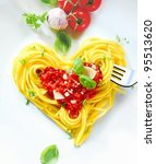 cooked spaghetti carefully... | Shutterstock . vector #95513620