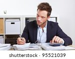 business man working with... | Shutterstock . vector #95521039