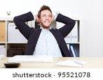 pensive happy business man in... | Shutterstock . vector #95521078
