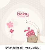 Cute Baby Shower Design. Vecto...