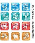 12 horoscope many colored... | Shutterstock .eps vector #95529973