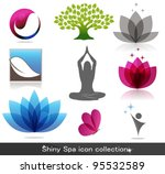 spa icon collection  beautiful... | Shutterstock .eps vector #95532589