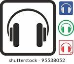 headphones vector icon | Shutterstock .eps vector #95538052