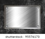steel metal plate on concrete... | Shutterstock . vector #95576173