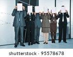 successful business team... | Shutterstock . vector #95578678