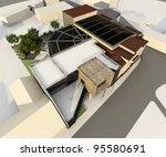 render of a modern building... | Shutterstock . vector #95580691