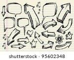 notebook doodle sketch speech... | Shutterstock .eps vector #95602348