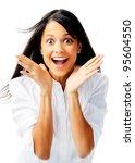 beautiful mixed race... | Shutterstock . vector #95604550