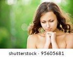 portrait of beautiful young...   Shutterstock . vector #95605681