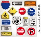 vector. blank road signs | Shutterstock .eps vector #95611018