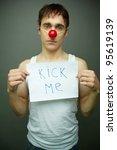 Sad Guy With A       Kick Me  ...