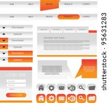 web designing element set   Shutterstock .eps vector #95631283