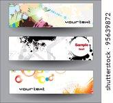 set shiny banners | Shutterstock .eps vector #95639872