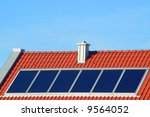 solar panels on a new roof | Shutterstock . vector #9564052