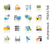 computer network and internet...   Shutterstock .eps vector #95641768