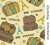 old vintage suitcases seamless... | Shutterstock .eps vector #95646763