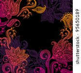 Floral Pattern Background With...