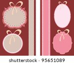 vintage labels and lace for baby | Shutterstock .eps vector #95651089