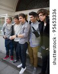 london  uk   feb. 20  boyband... | Shutterstock . vector #95653336