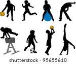 Children Sport Silhouettes