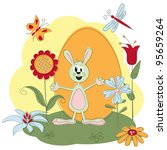 easter greeting card with... | Shutterstock .eps vector #95659264