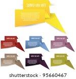 origami banners easily editable | Shutterstock .eps vector #95660467