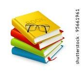 books and glasses  vector | Shutterstock .eps vector #95661961