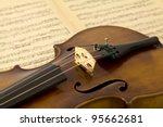 Vintage Viola On Sheet Music...