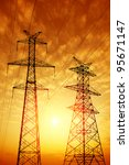 high voltage post.high voltage... | Shutterstock . vector #95671147