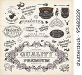vector set  calligraphic design ... | Shutterstock .eps vector #95683339