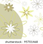 greeting card with flowers... | Shutterstock . vector #95701468