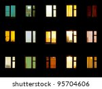 Windows At Night. House...